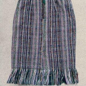 Colorful tweed skirt